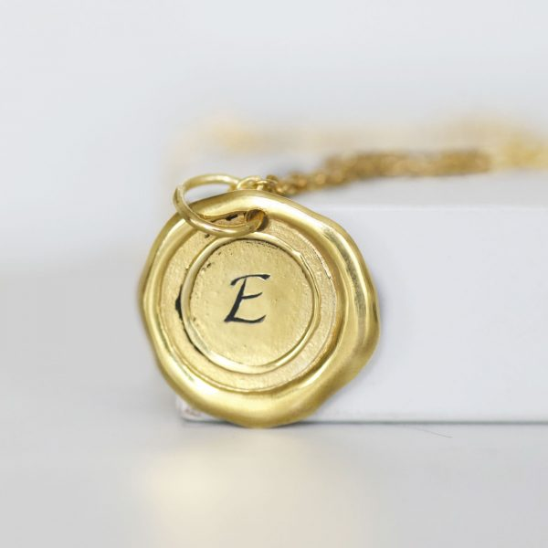 Gold Monogrammed Initial Necklace