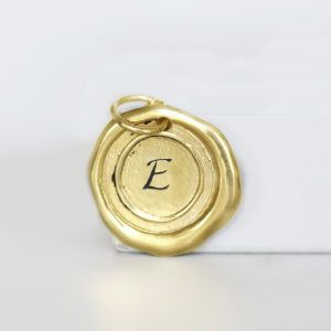Gold Wax Seal Pendant