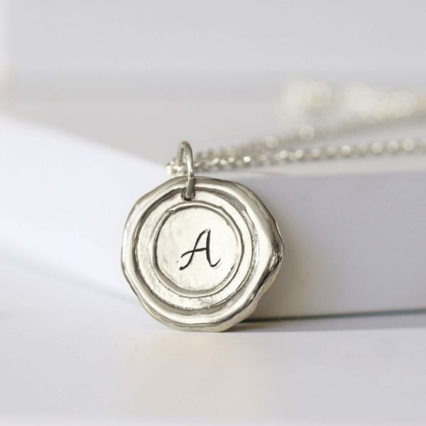 Wax seal personalised necklace