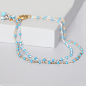 Gold Or Silver Turquoise Ankle Bracelet