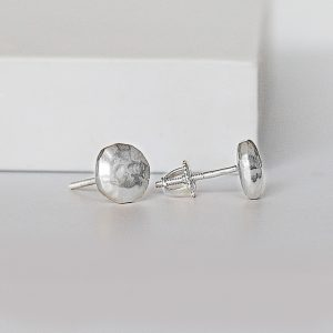 Real Silver Stud Earrings