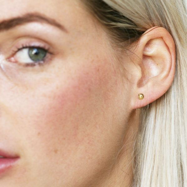 small gold stud earrings for second hole