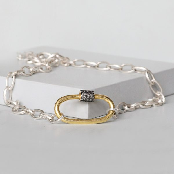 Sterling Silver Lock Necklace