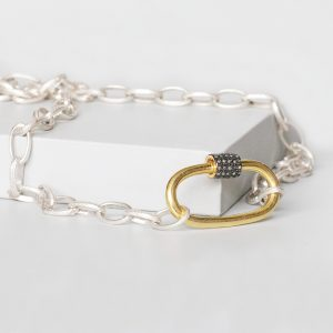Sterling Silver Padlock Necklace