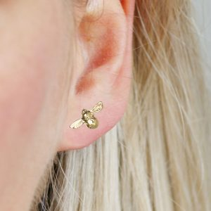9ct Gold Bee Earrings