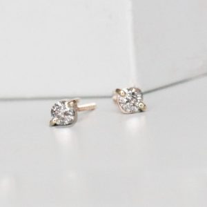 Diamond Earrings Gold