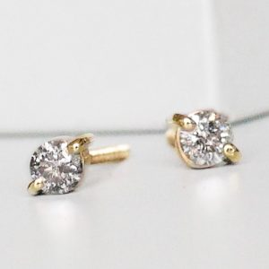 Grey Diamond Stud Earrings