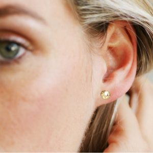 Gold Hammered Studs