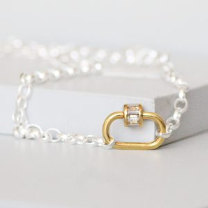 Lock Necklace Sterling Silver