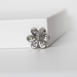 Diamond Flower Charms